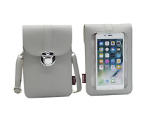 Touch Screen Purse with Clear Window Pockets Faux Leather Crossbody Shoulder Bag