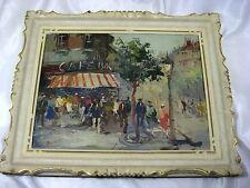 Paris Streetscene Vintage Original Oil painting by Anatol Bouchet