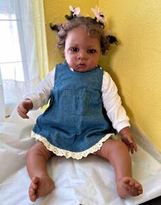 ASHTON-DRAKE - Jasmine soft vinyl black baby doll - smells like a baby, adorable