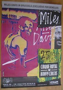 MILES DAVIS original concert poster jazz '83