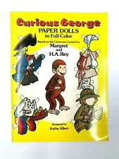 Vintage Curious George  1982 Paper Doll Book New