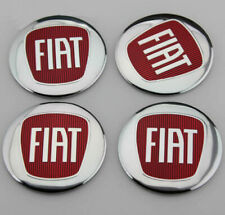 """4X Red 2.2"""" Car Wheel Center Hub Caps Emblem Badge Decal Stickers For 500 Abarth"""