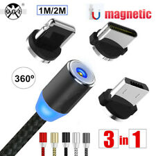 UGI 2.4A Type C/ iOS / Micro USB Android Round Strong Magnetic Charger Cable Lot