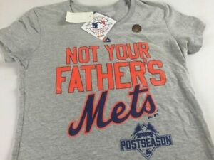 Not Your Father's Mets T-Shirt New York Womens SZ S M L 2015 Postseason NEW Tee