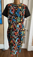 New York & Company Plus size 16 fitted stretch embroidered short sleeve dress