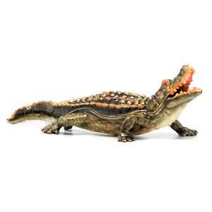 Crocodile -  Jewelled Trinket Box Or Figurine
