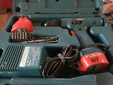 Vintage Makita 12V Lithium Ion Cordless Drill, Batteries And Charger