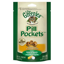 GREENIES - Pill Pockets Capsules Chicken Flavor Cat Treats - 45 Chews