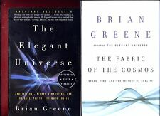 2 Brian Greene books: The Elegant Universe & Fabric of the Cosmos -Free Shipping