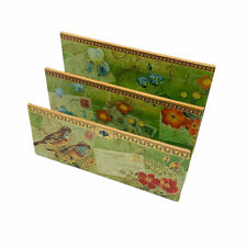 Punch Studio Meadowlarks Floral Postcard Letter Bill Desk Rack Organizer