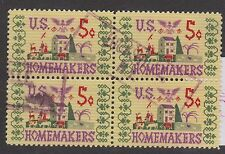 (ZB-198) 1964 USA 5c home makers 4block Used