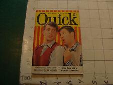 vintage QUICK magazine - 1951 Oct 8, DEAN MARTIN & JERRY LEWIS cover ETC