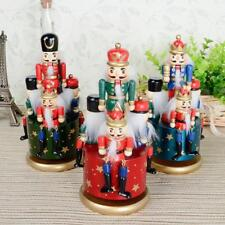 Christmas Walnut Soldiers Music Box Nutcracker Soldier Musical Home Decoration