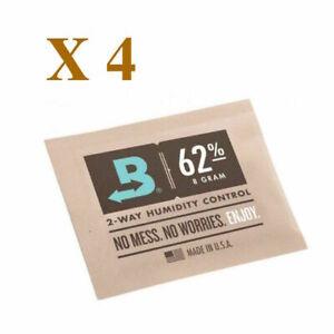 NEW Boveda 8 gram 62% Humidipack - 2 Way Humidity Control (4 x 8g)
