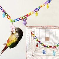 Bird Parrot Hanging Swing Toy Bed Cage Rope Pet Chew Cockatiel Parakeet Budgie