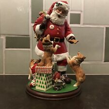 Danbury Mint Santa's Little Shelties Christmas Dog Figurine Shetland Sheepdog