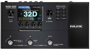 NUX MG-30 Guitar Multi-Effects Pedal Guitar/Bass/Acou Amp Modeling, 1024 Samples