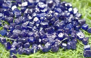 300.00 Ct Natural Kashmiri Blue Sapphire Earth-Mined Specimen Facet Rough Lot