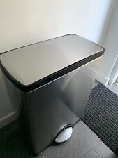 Simplehuman 46L Rectangular Foot Pedal Lid Recycler Bin Stainless Steel Brushed