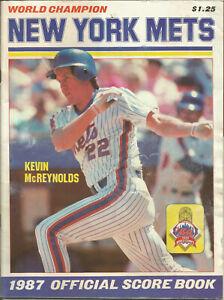 1997 New York Mets Scorebook  vs. Atlanta Braves  Kevin McReynolds
