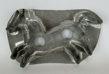 Antique Large Folky Horse Tin Flat Back Cookie Cutter