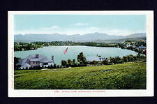1902 view Mirror Lake Adirondack Mountains New York postcard