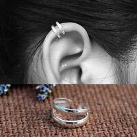 UNISEX Adjustable Sterling Silver Ear Cuff Wrap No piercing Cartilage Earring