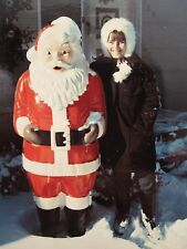 VINTAGE PLASTIC SANTA CLAUS CHRISTMAS DISPLAY POLAROID SNOW GIRL GLOBE PHOTO