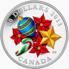 2013 Canada Murano Venetian Glass CANDY CANE 1oz .9999 Proof Silver Coin