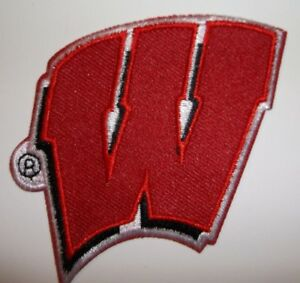 """Wisconsin Badgers~Embroidered PATCH~2 7/8"""" x 2 5/8""""~Iron Sew On~Ships FREE"""