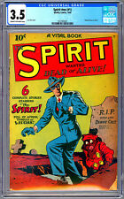 THE SPIRIT #NN / #1 CGC 3.5 FIRST SOLO SPIRIT TITLE CREATED BY WILL EISNER 1944
