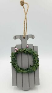 Christmas Tree Decorations Grey Pack Hanging Wooden