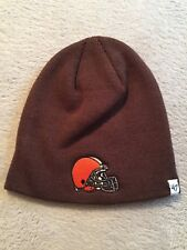 big sale f891e 0dc87 CLEVELAND BROWNS NFL YOUTH BEANIE CAP HAT FORTY SEVEN BRAND NWT