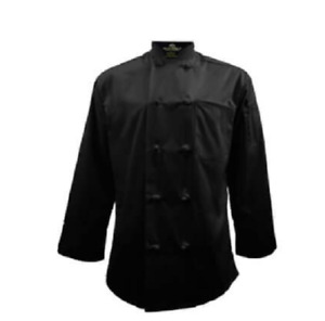 Natural Uniforms Knot Button Chef Coat with Thermometer Stain Resistant