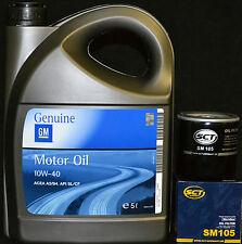 5 Liter GM / Opel 10W40 Motoröl + SM105 Ölfilter OPEL CALIBRA A COMBO CORSA A B