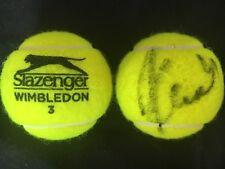 TENNIS: KAROLINA PLISKOVA SIGNED SLAZENGER WIMBLEDON TENNIS BALL+COA