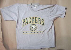 Green Bay Packers NFL Football V Neck Gray Shirt Lee Sport Vintage XXL 2XL