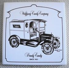 Wolfgang Candy Company Delivery Truck Model T Ford Art Ceramic Tile/ Wall Decor