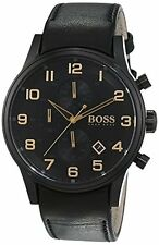 Hugo Boss AEROLINER BLACK&GOLD COLLECTION 1513274 Mens Chronograph Classic