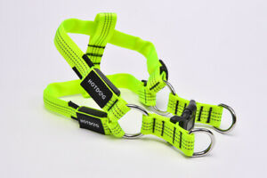 Material Dog Harness - LED Rechargeable 3 Sizes 4 colours