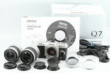PENTAX Q7 double zoom kit Silver With Original Box 02 Standard 06 Telephoto