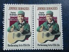 JIMMIE RODGERS U.S. STAMPS (2)  #1755