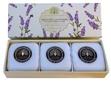 English Soap Company 3x100g Hand Soaps English Lavender Shea Butter Gift Boxed