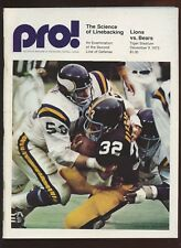 December 9 1973 NFL Football Program Chicago Bears at Detroit Lions NRMT