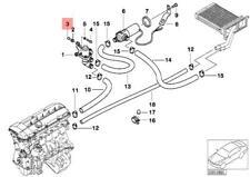 Genuine BMW E24 E28 Z3 Coupe Sedan Water Valve Rivet x25 pcs OEM 07119949634