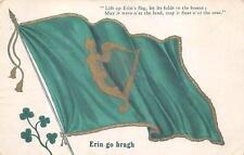 ST. PATRICK'S DAY HOLIDAY IRELAND FLAG & HARP POSTCARD 1906 267