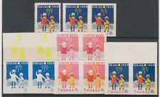 Norway 1950 Cinderella Tbc Relief Progressive Imperf Proofs 6 Imperf Pairs Mnh
