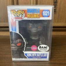Godzilla vs Kong Kong with Battle Axe Flocked BAM Exclusive #1021 w/protector