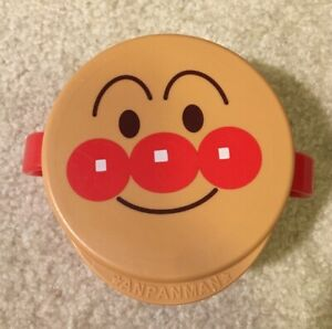 Anpanman Spill Proof Food Snack Plastic Container Cup Lid Baby Kids Japan Anime