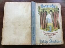 'Bambi' by Felix Salten, Berlin 1923 rare first edition hardback